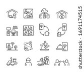 covid 19 and protect icons set  ... | Shutterstock .eps vector #1691174515