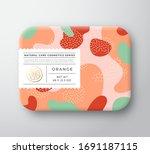 orange bath cosmetics package... | Shutterstock .eps vector #1691187115