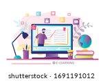 e learning concept banner.... | Shutterstock .eps vector #1691191012