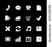 online shopping icons set ...
