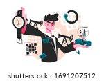 time is money vector... | Shutterstock .eps vector #1691207512