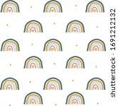 cute rainbow motif pattern...   Shutterstock .eps vector #1691212132