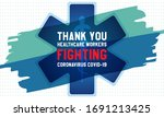 thank you healthcare workers... | Shutterstock .eps vector #1691213425