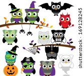 vector collection of spooky... | Shutterstock .eps vector #169128245
