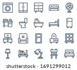 set of home furniture icon... | Shutterstock .eps vector #1691299012