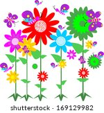 springtime flowers and... | Shutterstock .eps vector #169129982