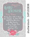 baby shower invitation template ... | Shutterstock .eps vector #169132838