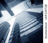modern business center in... | Shutterstock . vector #169134728