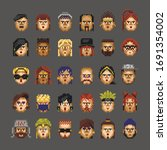 Collectible Set Of Pixel People....
