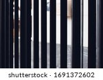 old cast iron fence with spears ... | Shutterstock . vector #1691372602