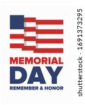 memorial day in united states.... | Shutterstock .eps vector #1691373295