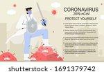 doctor or medical health care... | Shutterstock .eps vector #1691379742