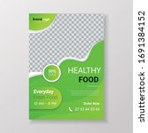 healthy food poster with photo   Shutterstock .eps vector #1691384152