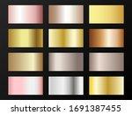 trendy golden  silver  bronze ... | Shutterstock .eps vector #1691387455