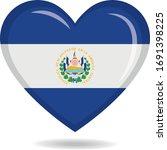 el salvador national flag in... | Shutterstock .eps vector #1691398225