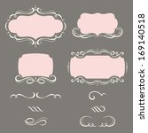 decorative frames and ornaments. | Shutterstock .eps vector #169140518