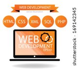 web development concept | Shutterstock .eps vector #169142345