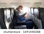 Guy In Airplane  Young Man In...