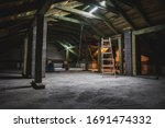 Industrial View Of Attic Under...