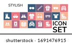 stylish icon set. 19 filled...   Shutterstock .eps vector #1691476915