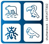 fauna icon set. collection of... | Shutterstock .eps vector #1691477302