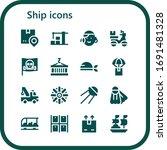 ship icon set. 16 filled ship... | Shutterstock .eps vector #1691481328