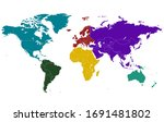 world map divided into six...   Shutterstock .eps vector #1691481802