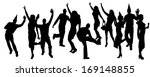 party people black silhouette... | Shutterstock .eps vector #169148855