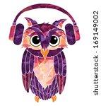 owl music fan | Shutterstock .eps vector #169149002
