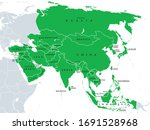 asia  political map  states and ... | Shutterstock .eps vector #1691528968