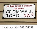 london street sign  cromwell... | Shutterstock . vector #169153652