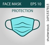 mask icon on a gray background  ... | Shutterstock .eps vector #1691537815
