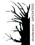 black ink paint splatter drip... | Shutterstock . vector #1691547052