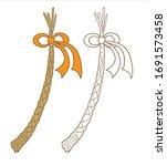 plaited willow cane  czech whip ... | Shutterstock .eps vector #1691573458