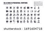 simple set of covid 19... | Shutterstock .eps vector #1691604718