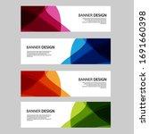 vector abstract banner web... | Shutterstock .eps vector #1691660398