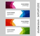 vector abstract banner web... | Shutterstock .eps vector #1691691202