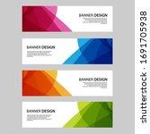 vector abstract banner web... | Shutterstock .eps vector #1691705938