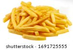 French Fries On An Isolated...