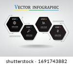 geometric hexagon infographic...   Shutterstock .eps vector #1691743882