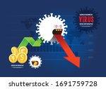 coronavirus crisis infographic...   Shutterstock .eps vector #1691759728