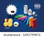 coronavirus crisis infographic. ...   Shutterstock .eps vector #1691759872