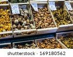 Dried Mushrooms In A Market  I...