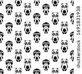 seamless pattern cute panda and ...   Shutterstock .eps vector #1691831938