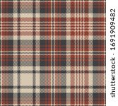 plaid pattern background vector.... | Shutterstock .eps vector #1691909482