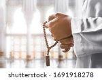Religious Muslim Man Praying...