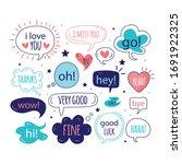 cute collection text balloon... | Shutterstock .eps vector #1691922325