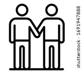 adult unity icon. outline adult ... | Shutterstock .eps vector #1691947888