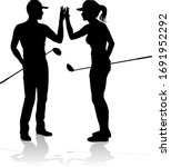 golfer sports people playing... | Shutterstock .eps vector #1691952292