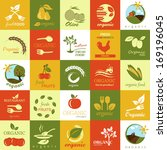 organic icons set   isolated on ... | Shutterstock .eps vector #169196045